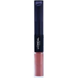 L'Oréal Paris Infallible hosszan tartó rúzs és ajakfény 2 az 1-ben árnyalat 113 Invicible Sable 5 ml