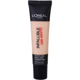 L'Oréal Paris Infallible mattító make-up árnyalat 10 Porcelain 35 ml