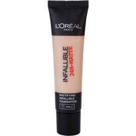 L'Oréal Paris Infallible mattító make-up árnyalat 11 Vanilla 35 ml
