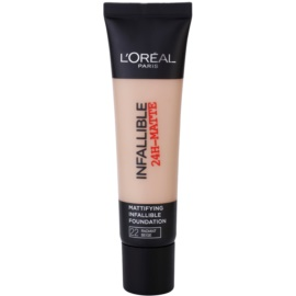 L'Oréal Paris Infallible mattító make-up árnyalat 22 Radian Beige 35 ml