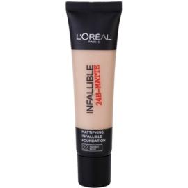L'Oréal Paris Infallible machiaj cu efect matifiant culoare 22 Radian Beige 35 ml
