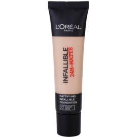 L'Oréal Paris Infallible maquillaje matificante tono 22 Radian Beige 35 ml