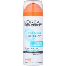 L'Oréal Paris Men Expert Hydra Sensitive pena za britje brez alkohola  200 ml