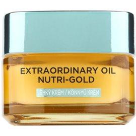 L'Oréal Paris Extraordinary Oil Nutri-Gold lehký vyživující olejový krém  50 ml