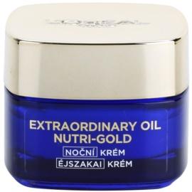 L'Oréal Paris Nutri-Gold aufhellende Nachtcreme mit der Intensität einer Maske Essential Oils + Royal Jelly - Light Texture, Silky Soft) 50 ml