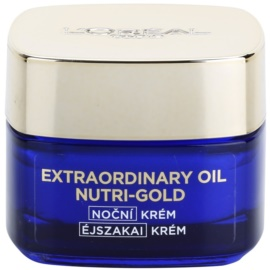 L'Oréal Paris Nutri-Gold rozjasňujúcí nočný krém s intenzitou masky Essential Oils + Royal Jelly - Light Texture, Silky Soft) 50 ml