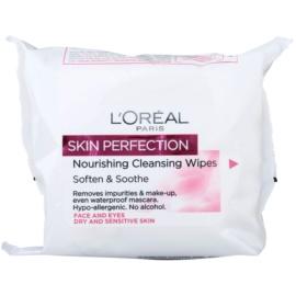 L'Oréal Paris Skin Perfection čistilni robčki za suho in občutljivo kožo  25 kos