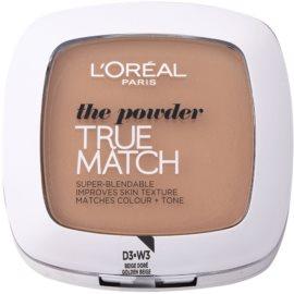 L'Oréal Paris True Match pudra compacta culoare 3D/3W Golden Beige 9 g
