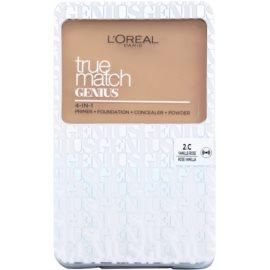 L'Oréal Paris True Match Genius make-up compact 4 in 1 culoare 2.C Rose Vanilla SPF 30 7 g