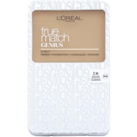 L'Oréal Paris True Match Genius make-up compact 4 in 1 culoare 3.W Golden Beige SPF 30 7 g