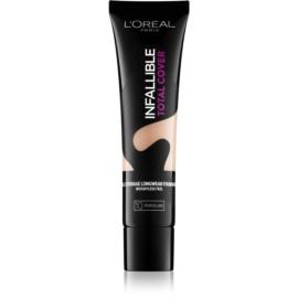 L'Oréal Paris Infallible Total Cover maquillaje de larga duración con efecto mate tono 10 Porcelain 35 g