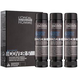 L'Oréal Professionnel Homme Cover 5' tonirana barva za lase 3 kos odtenek 6 Dark Blond  3x50 ml