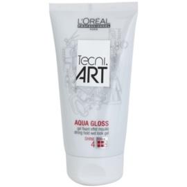 L'Oréal Professionnel Tecni Art Aqua Gloss gel za lase z mokrim učinkom z močnim utrjevanjem Shine: 4 150 ml