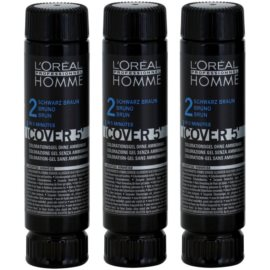 L'Oréal Professionnel Homme Color barva za lase 3 kos odtenek 3 Dark Brown  3x50 ml