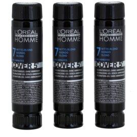 L'Oréal Professionnel Homme Color barva za lase 3 kos odtenek 7 Blond  3x50 ml