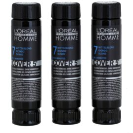 L'Oréal Professionnel Homme Cover 5' tonirana barva za lase 3 kos odtenek 7 Blond  3x50 ml