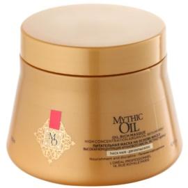 L'Oréal Professionnel Mythic Oil vyživující maska pro husté a nepoddajné vlasy bez parabenů  200 ml