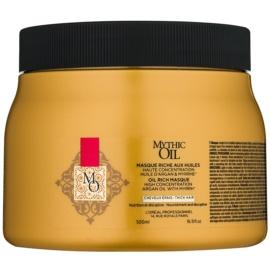 L'Oréal Professionnel Mythic Oil vyživující maska pro husté a nepoddajné vlasy bez parabenů  500 ml