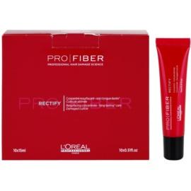 L'Oréal Professionnel Pro Fiber Rectify regenerační péče pro jemné až normální vlasy  10x 15 ml