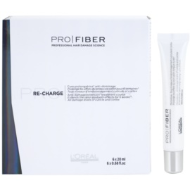 L'Oréal Professionnel Pro Fiber Re-Charge obnovující péče pro poškozené vlasy  6 x 20 ml