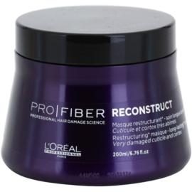 L'Oréal Professionnel Pro Fiber Reconstruct masca pentru regenerare pentru par foarte uscat si deteriorat  200 ml