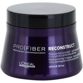 L'Oréal Professionnel Pro Fiber Reconstruct regeneráló maszk a nagyon száraz és sérült hajra  200 ml