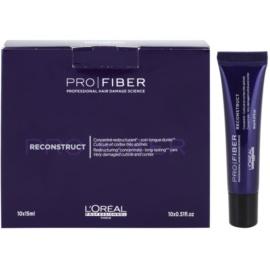 L'Oréal Professionnel Pro Fiber Reconstruct regenerační péče pro velmi suché a poškozené vlasy  10 x 15 ml