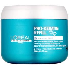 L'Oréal Professionnel Série Expert Pro-Keratin Refill regenererende sheet mask voor Futloos Haar   200 ml