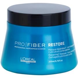 L'Oréal Professionnel Pro Fiber Restore megújító maszk sérült, vegyileg kezelt hajra  200 ml