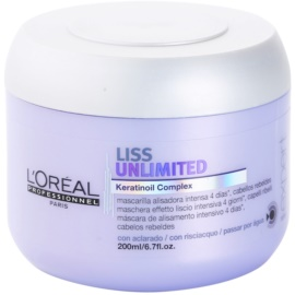 L'Oréal Professionnel Série Expert Liss Unlimited uhlazující maska pro nepoddajné a krepatějící se vlasy  200 ml