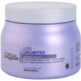 L'Oréal Professionnel Série Expert Liss Unlimited uhlazující maska pro nepoddajné a krepatějící se vlasy  500 ml