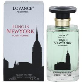 Lovance Fling in New York eau de toilette férfiaknak 100 ml