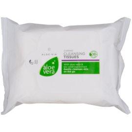 LR Aloe Vera Face Care chusteczki oczyszczające dla cery wrażliwej  25 szt.