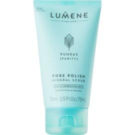 Lumene Cleansing Puhdas [Purity] oczyszczający peeling mineralny do skóry tłustej i mieszanej  75 ml