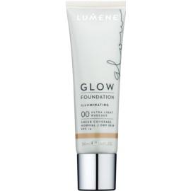 Lumene Nordic Chic Glow Make-up Base  met Hydraterende Werking  Tint  00 Ultra Light 30 ml