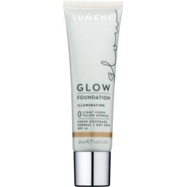 Lumene Nordic Chic Glow Make-up Base  met Hydraterende Werking  Tint  0 Light Ivory 30 ml