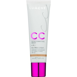 Lumene Nordic Chic CC ľahký zmatňujúci make-up 6 v 1 odtieň Ultra Light SPF 20 30 ml