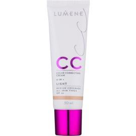 Lumene Nordic Chic CC ľahký zmatňujúci make-up 6 v 1 odtieň Light SPF 20 30 ml