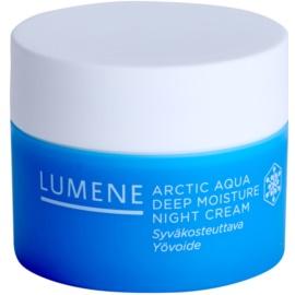 Lumene Arctic Aqua creme de noite hidratação profunda para pele normal e seca  50 ml