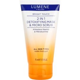 Lumene Bright Touch Detox-Gesichtsmaske und mikro Peeling 2 in 1  75 ml