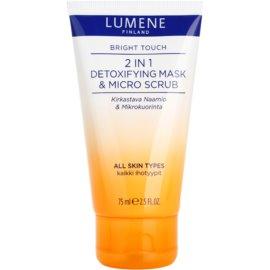 Lumene Bright Touch detoxikační maska a mikro peeling 2 v 1  75 ml