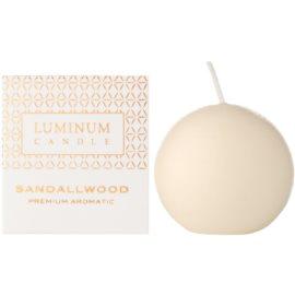 Luminum Candle Premium Aromatic Sandalwood Duftkerze    kleine (Ø 60 mm, 15 h)
