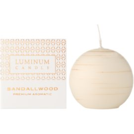 Luminum Candle Premium Aromatic Sandalwood Duftkerze    verziert, klein (Ø 60 mm, 15 h)