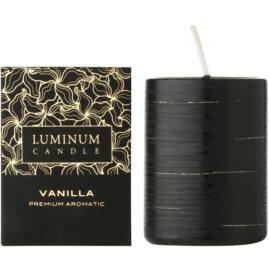 Luminum Candle Premium Aromatic Vanilla Duftkerze    verziert, mittelgroß (Ø 60 - 80 mm, 32 h)