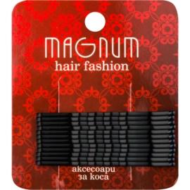 Magnum Hair Fashion spinki do włosów czarny  12 szt.