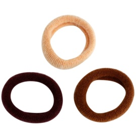 Magnum Hair Fashion gumki bawełniane do włosów Brown 3 szt.