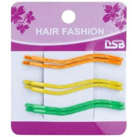 Magnum Hair Fashion színes hullámcsat  Orange, Yellow, Green 6 db