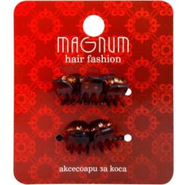 Magnum Hair Fashion зажими для волосся Brown 5 кс