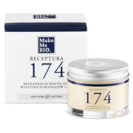 Make Me BIO Receptura 174 regenerierende Nachtcreme für alle Hauttypen  50 ml