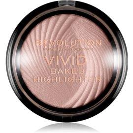 Makeup Revolution Vivid Baked zapečený rozjasňující pudr odstín Peach Lights 7,5 g